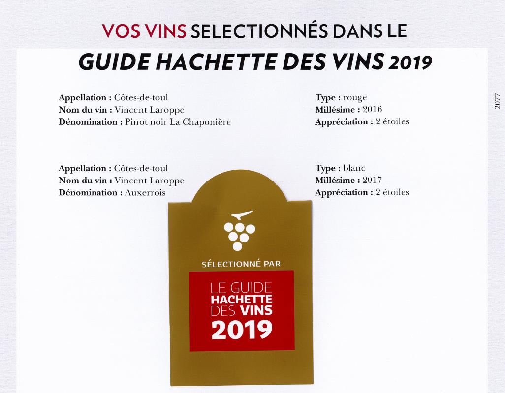 Sélection Guide Hachette des vins 2019
